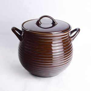 Crate and Barrel Covered Soup Chili Bean Stew Pot